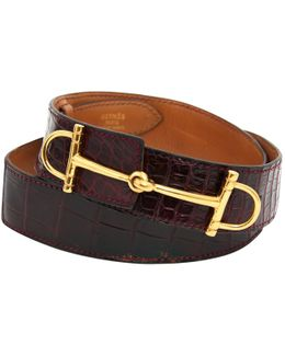Pre-owned Exotic Leathers Belt