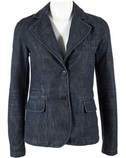 Pre-owned Blue Cotton Jacket