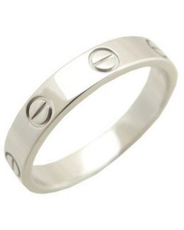 Pre-owned Love Platinum Ring