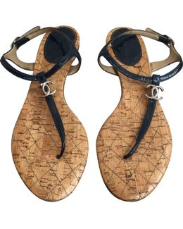 Pre-owned Leather Sandals