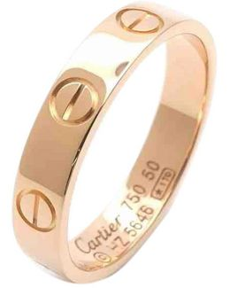 Pre-owned Love Pink Gold Ring