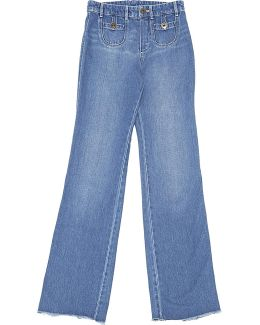 Pre-owned Blue Cotton Jeans