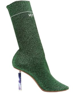 Unicorn Heel Sock Ankle Boots