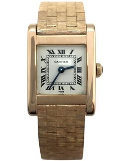 Pre-owned Tank Yellow Gold Watch