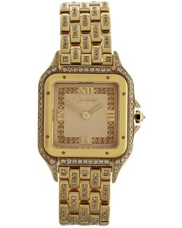 Pre-owned Panthère Yellow Gold Watch