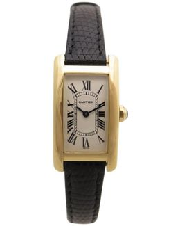 Pre-owned Tank Américaine Yellow Gold Watch