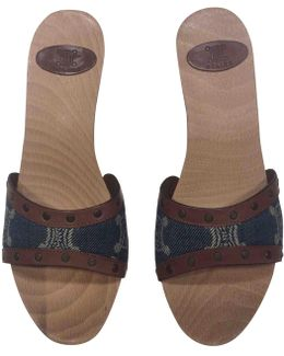 Pre-owned Cloth Sandals
