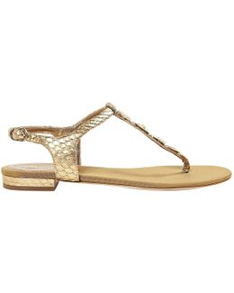 Pre-owned Python Sandals
