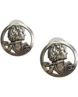 Pre-owned Camélia Silver Earrings