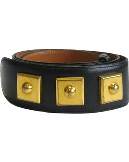 Pre-owned Leather Belt
