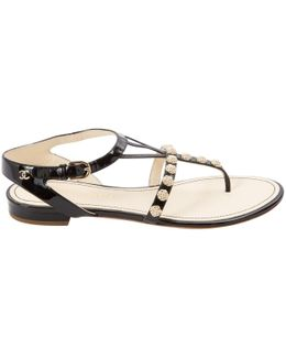 Pre-owned Patent Leather Sandal