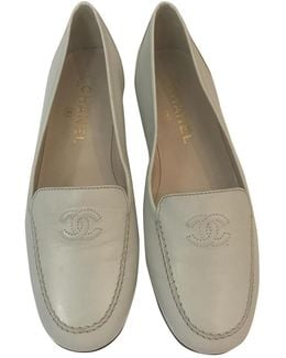 Pre-owned Leather Flats
