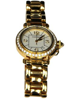 Pre-owned Pasha Grille Diamants Watch