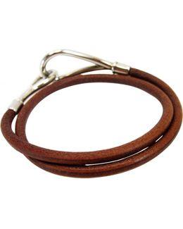 Pre-owned Jumbo Leather Bracelet