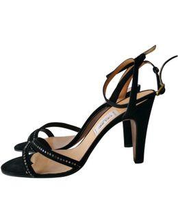 Pre-owned Velvet Sandals