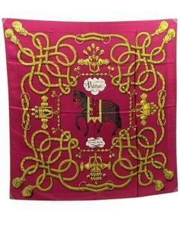 Pre-owned Carré Silk Neckerchief