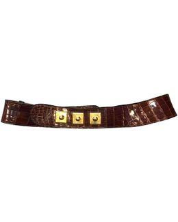Pre-owned Crocodile Belt