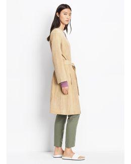 Suede Robe Coat