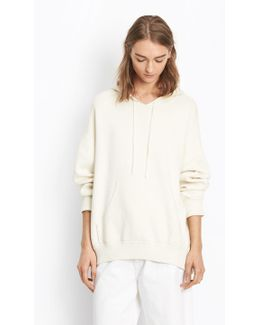 Cotton Knit Oversized Hoodie