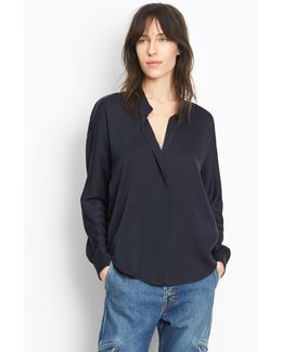 Double Front Silk Top