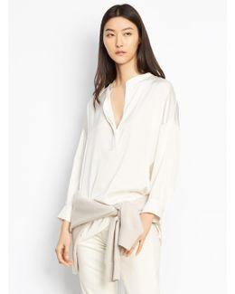 Shirred Drape Pullover