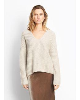 Deep V-neck Pullover