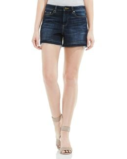 Two By Raw-edge Denim Shorts