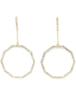 Goldtone Geo Drop Earrings