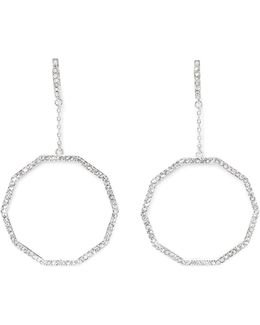 Silvertone Geo Drop Earrings