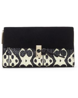 Louise Et Cie Frej – Mixed-material Clutch