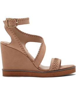 Ivanta – Whipstitched Wedge Sandal