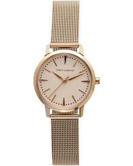 Rose-goldtone Mesh-band Watch