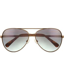 Colored-lens Aviator Sunglasses