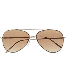 Flat-lens Aviator Sunglasses
