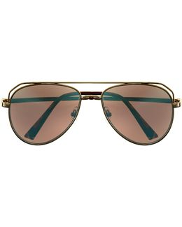 Mirror-lens Aviator Sunglasses