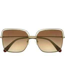 Flat Square-lens Sunglasses