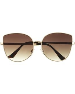 Metal-trim Cat-eye Sunglasses