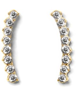 Goldtone Pavé Ear Crawlers