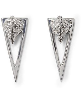 Silvertone Geo Drop-back Earrings