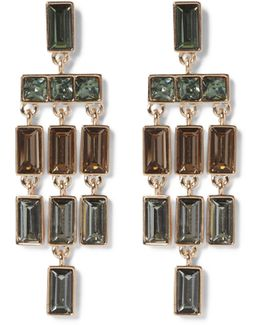 Mulicolored Jeweled Chandelier Earrings