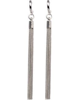 Silvertone Tassel Earrings