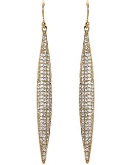 Goldtone Pavé Spear Earrings