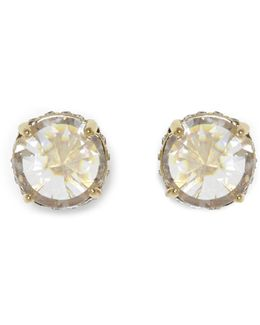 Goldtone Rivoli Stud Earrings