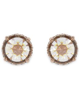Rose Goldtone Rivoli Stud Earrings