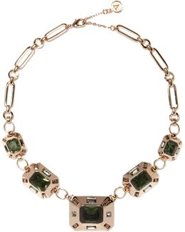 Emerald-cut Statement Necklace