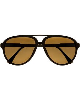 Colored-frame Aviator Sunglasses