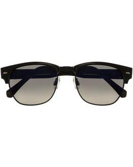 Stud-corner Brow Line Sunglasses