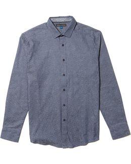 Print Button-up Shirt