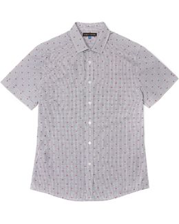 Dobby-dot Checked Shirt