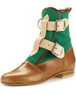 Seditionaries Boot Tan/green